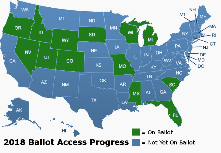 2018 Ballot Access for the Constitution Party